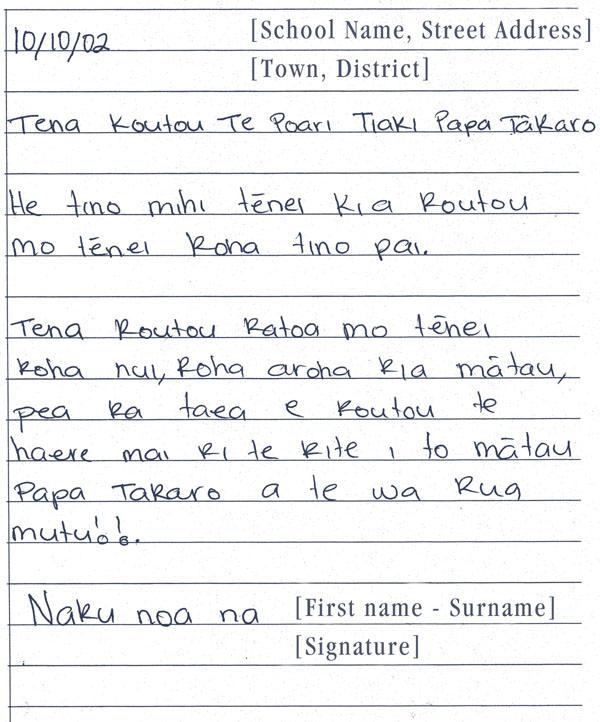 Maori In Letter Writing